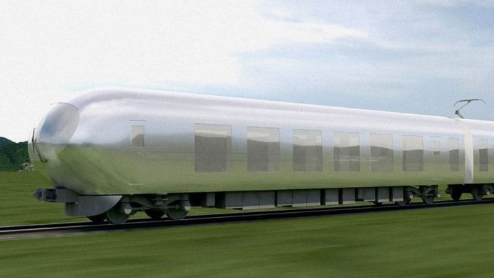 Un train invisible au Japon en 2018