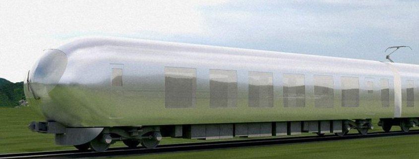 Un train invisible au Japon en 2018
