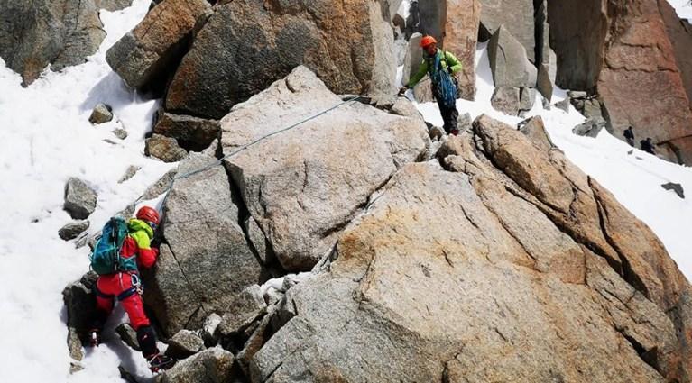 petite course d'alpinisme aux cosmiques c