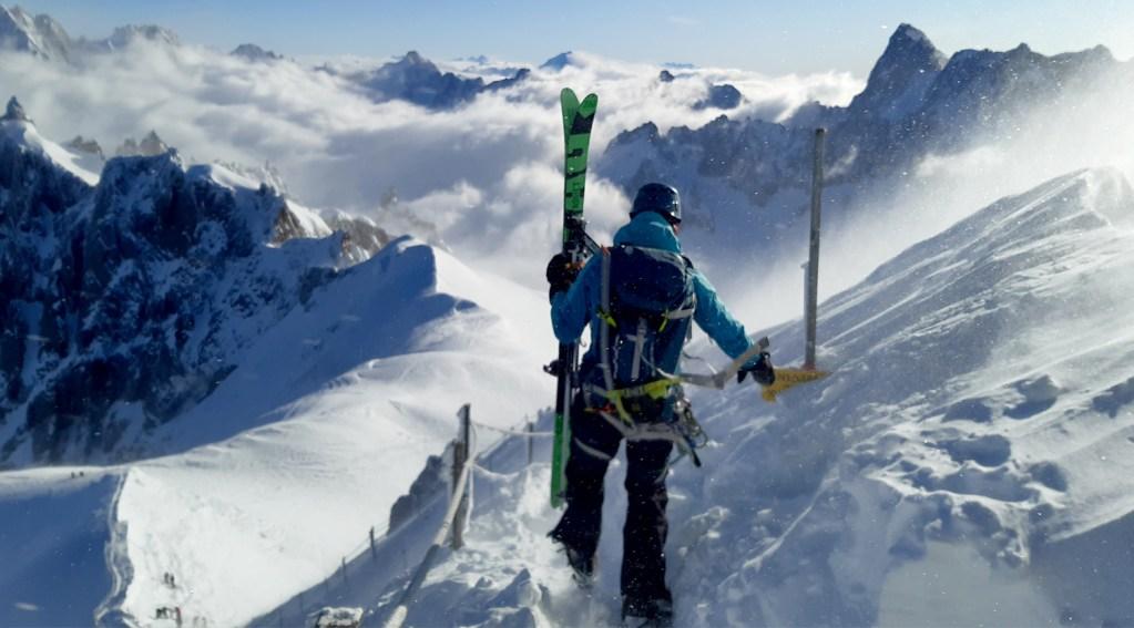 départ de la vallée blanche à ski