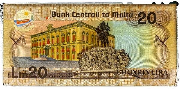 billet maltais maltese lira