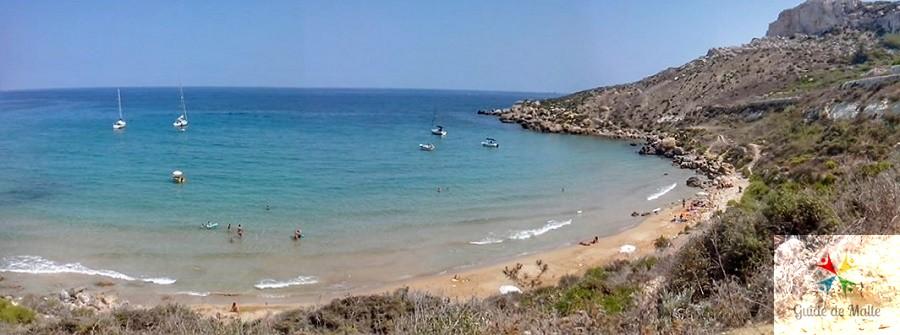 vue selmun bay panoramique plage sable malte