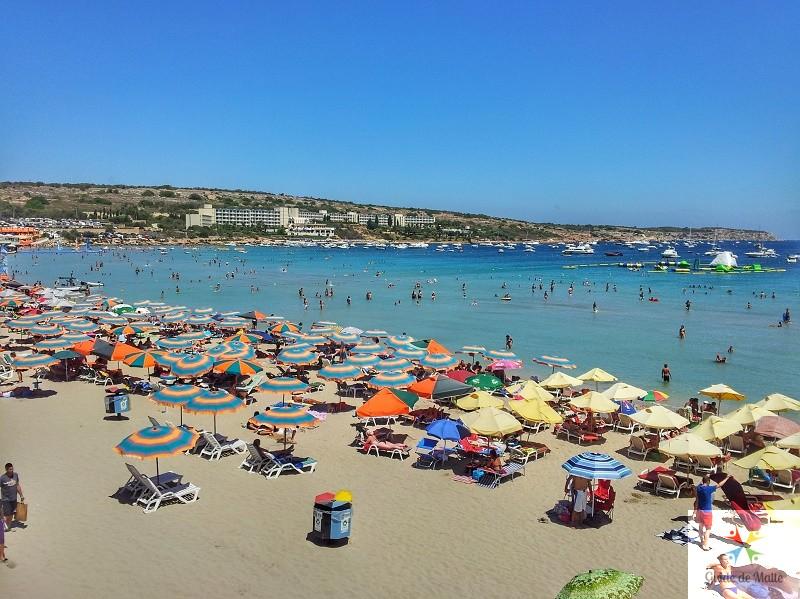 mellieha-beach plage malte sable