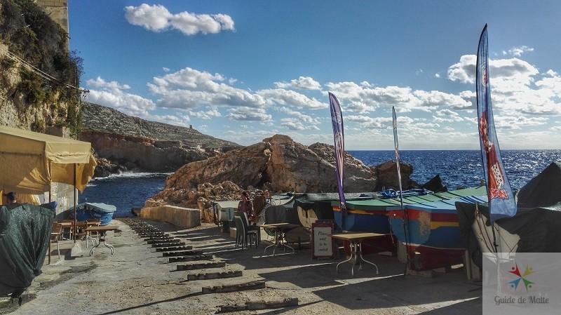 ta-carmen restaurant ghar-lapsi malte bord de mer