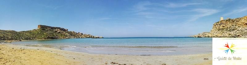 malte plage de sable Ghajn Tuffieha