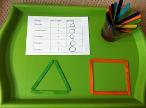 Shape Tray Activities