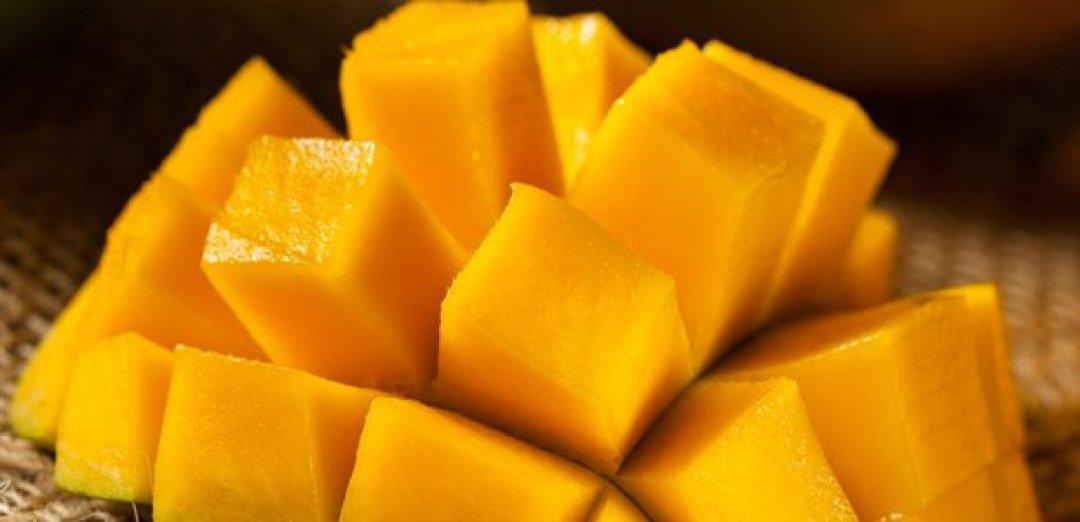 fresh cut mango
