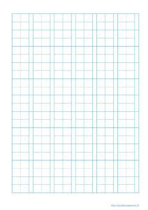 Papier quadrillé pour tracer les kanjis, hiragana et katakana