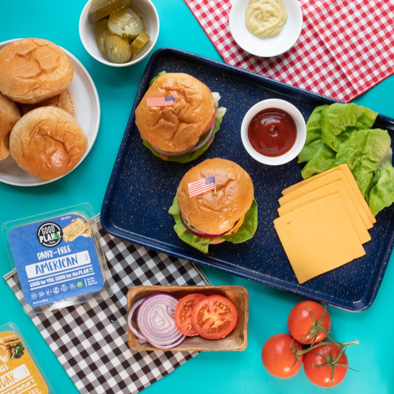 Good PLANet Foods American Cheese for traditional or meatless burgers