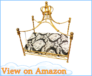 Jeweled Crown Gold Iron Dog Bed