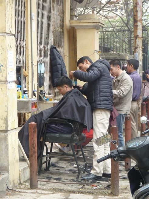 coiffure dans la rue