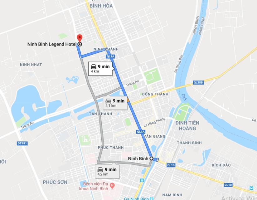 ninh binh legend map
