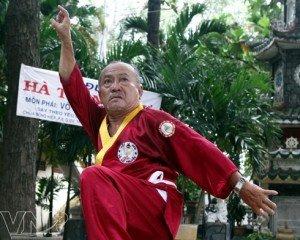 Le maître Hà Trong Ngu adepte des arts martiaux traditionnels