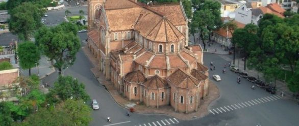la cathedrale saigon Ho Chi Minh ville