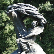 This is one of the most famous statues of Chopin in the world – reconstructed after the original model in 1958.