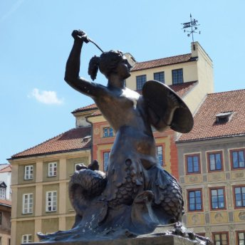 The mermaid with a sword and a shield is an official coat of arms of Warsaw.