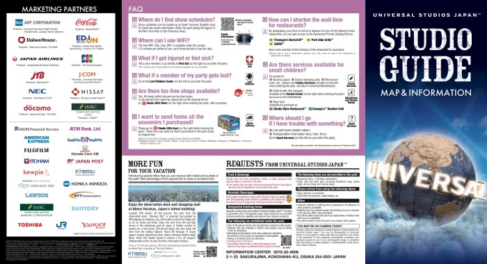 Universal Studio Japan Guide Map - Guide maps online