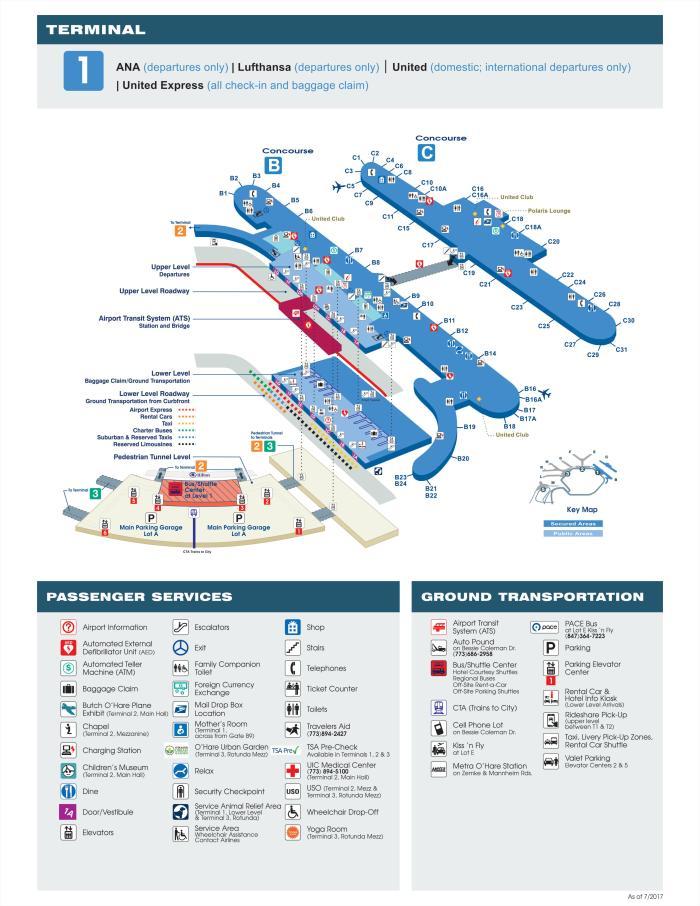 O'hare Map Terminal 3 : o'hare, terminal, O'Hare, International, Airport, Terminal