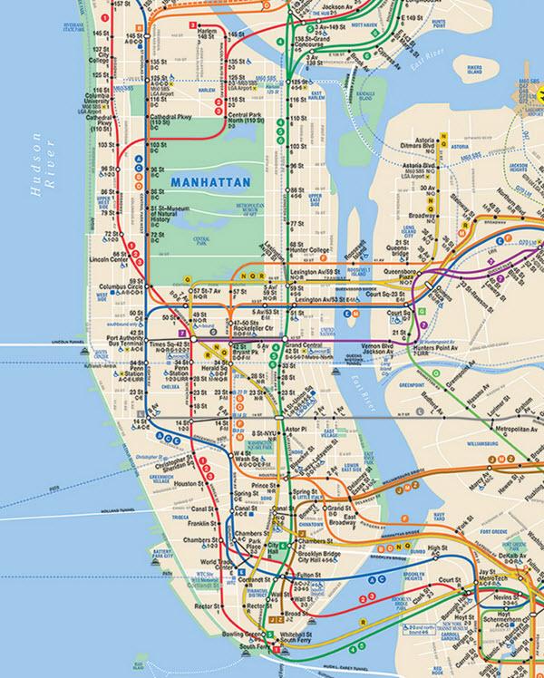 Métro de New-York : carte