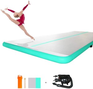 ibigbean Air Track Spring Floor Home Gymnastics Training Mat for Home Use,Beach, Park and Water