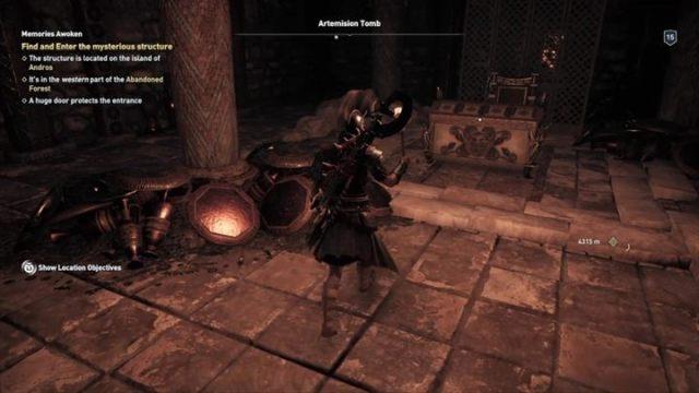 Вы окажетесь в коридоре с большим количеством ловушек и змей - Eubea - Гробницы в Assassins Creed Odyssey Game - Гробницы - Assassins Creed Odyssey Game Guide