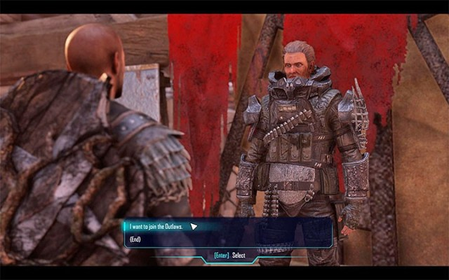 Ve a William para comenzar la línea de misiones que pueden permitirte unirte a los Outlaws.  - Outlaws - Factions - Guía del juego Elex