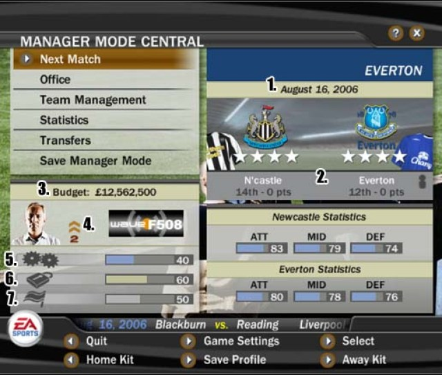 1 In The Club Manager Mode Fifa 07 Game Guide And Walkthrough