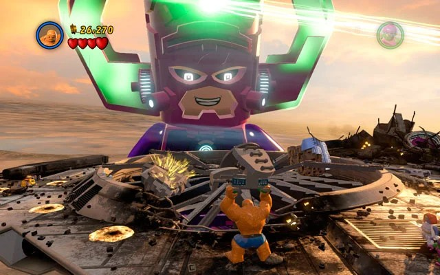 Galactus Boss Fights LEGO Marvel Super Heroes Game