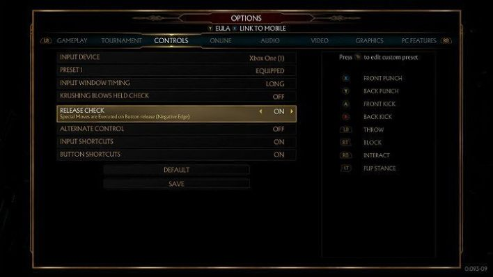Before you start practicing combos in Mortal Kombat 11, the first thing you should do is to look at the available control schemes - Combos in Mortal Kombat 11 - Combat guide - Mortal Kombat 11 Guide and Tips