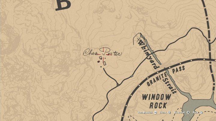 Усадьба Чез Портера расположена недалеко от Окна Рок, в южной части Амбарино - Усадьбы - Карты сокровищ в Red Dead Redemption 2 - Карта сокровищ - Red Dead Redemption 2 Guide