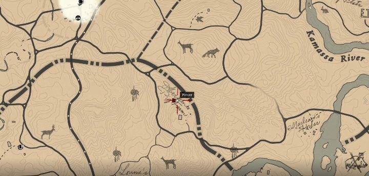 Усадьба Абердинского свиноферма расположена недалеко от реки Камасса, в южной части Нью-Ганновера - усадьбы - карты сокровищ в Red Dead Redemption 2 - Карта сокровищ - Red Dead Redemption 2 Guide