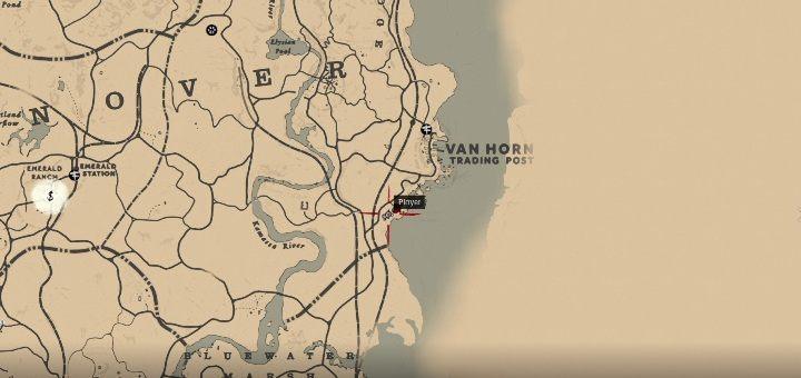 Усадьба Ван-Хорн-особняк расположена к северу от Ван-Хорна - Усадебные стаи - Карты сокровищ в Red Dead Redemption 2 - Карта сокровищ - Red Dead Redemption 2 Guide