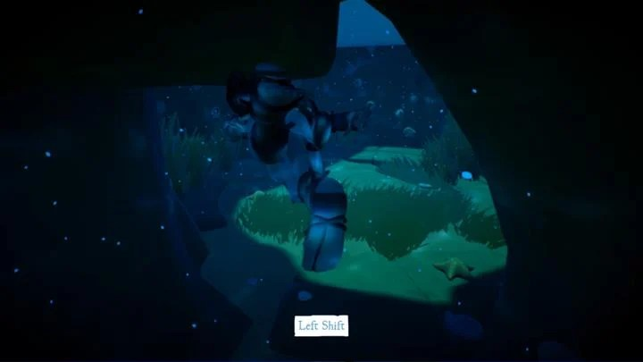 To reach the fourth figurine you first have to dive underwater. - Activation of the four figurines | Chapter 1 - Walkthrough - Chapter 1 - Rime Game Guide