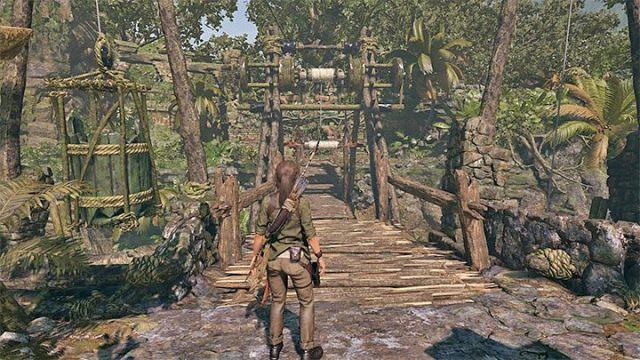 Вы можете вернуться и легко добраться до другого конца моста - Как решить загадку моста в игре Shadow of the Tomb Raider? - Рединг загадок - Тень игры в гробницу