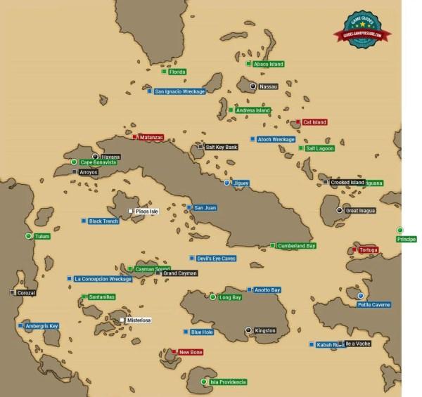 World map - locations | Maps & Secrets - Assassin's Creed ...