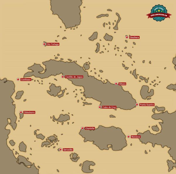 Forts | World map - important places - Assassin's Creed IV ...