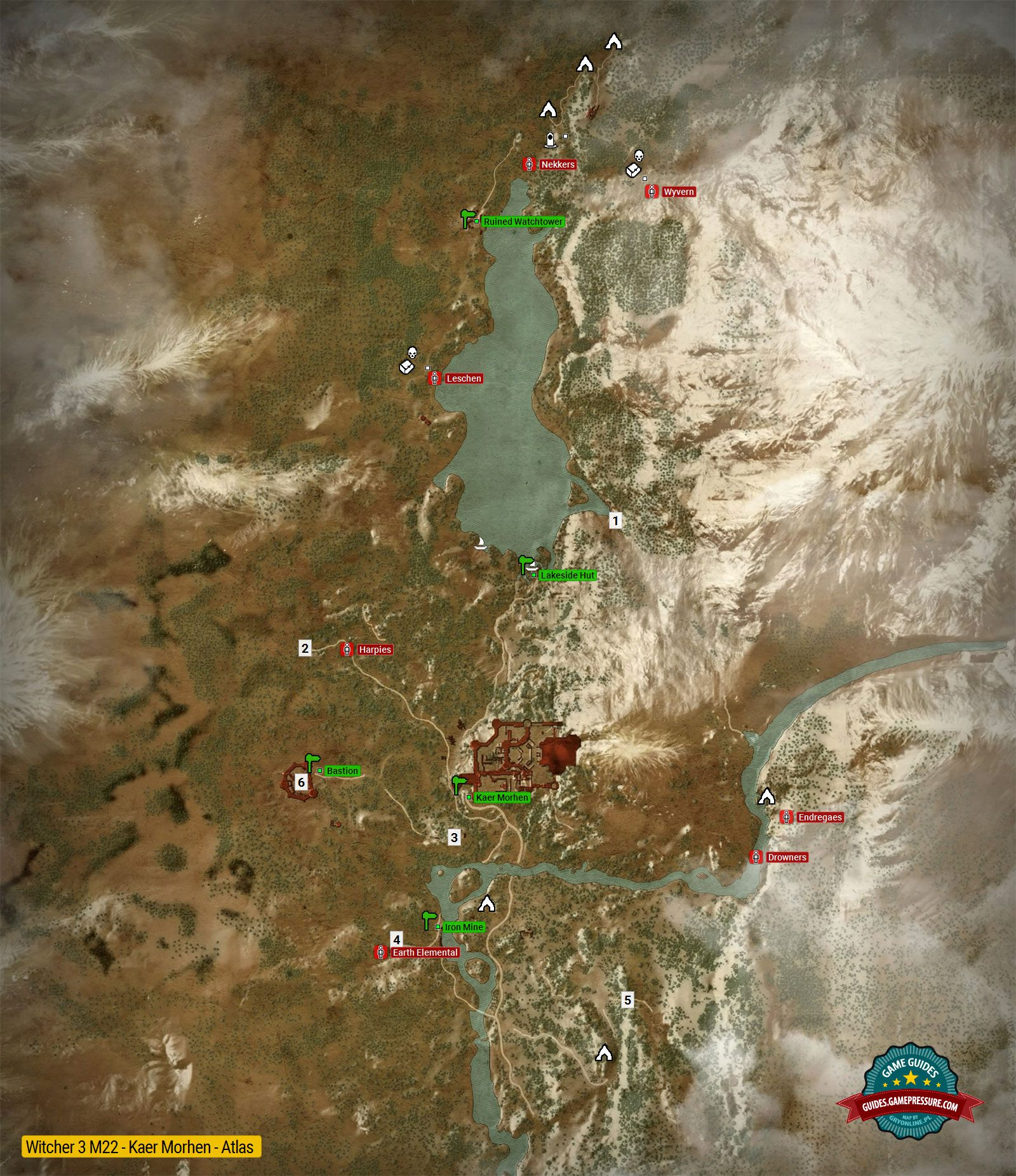 Map of important locations in Kaer Morhen M22   The Witcher 3  Wild     Enlarge this map