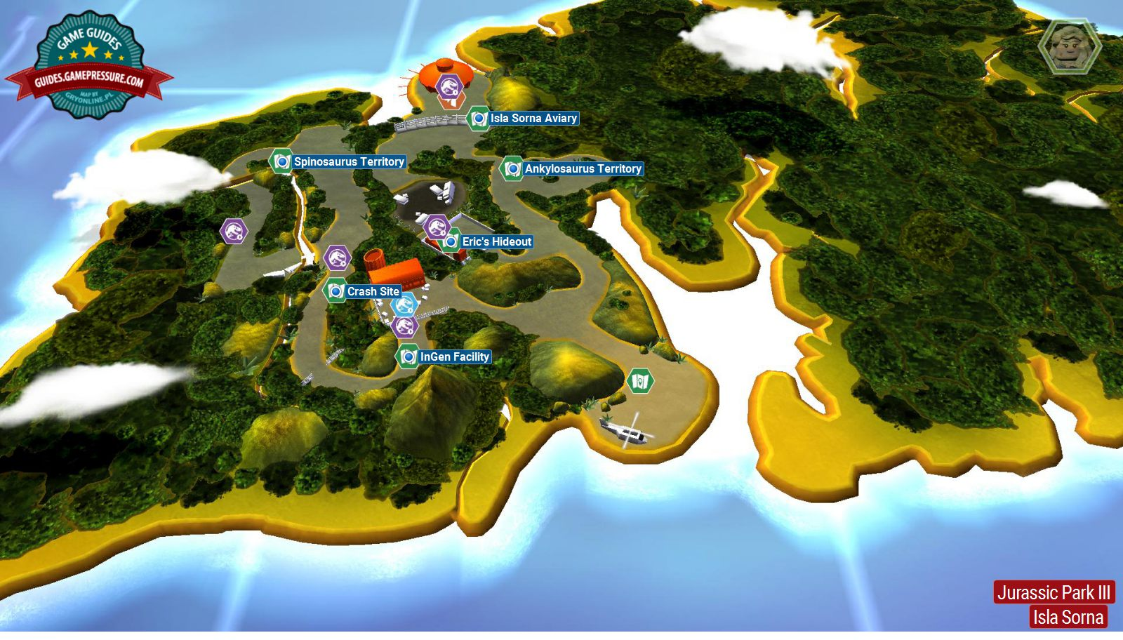 Introduction and map   Jurassic Park III   secrets in free roam     LEGO Jurassic World  Jurassic Park III