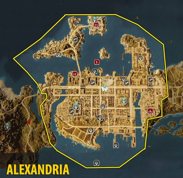 Map of Alexandria - Tombs, papyrus puzzles and secrets ...