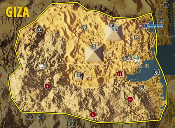 Giza side quests and quest map | Walkthrough - Assassin's ...