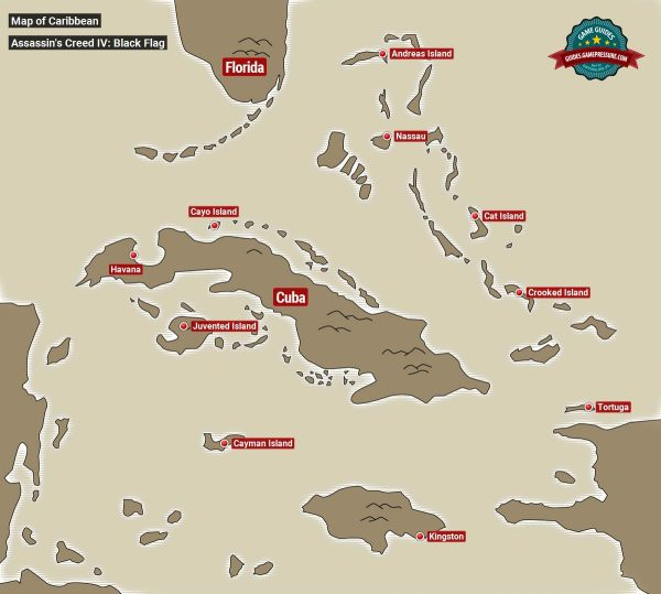 Map of the Caribbean | Basic info - Assassin's Creed IV ...