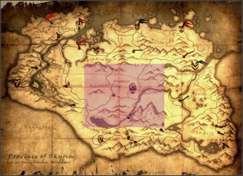 5  Central Skyrim   p 1   World maps   The Elder Scrolls V  Skyrim     1    5  Central Skyrim   p 1   World maps   World