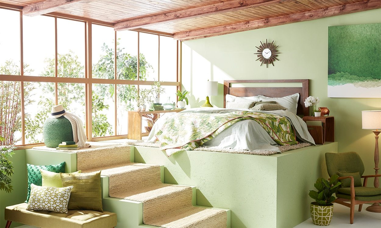 Green And Yellow Living Rooms