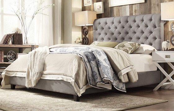 Beautiful Coastal Furniture   Decor Ideas   Overstock com A coastal bedroom with layers of bedding