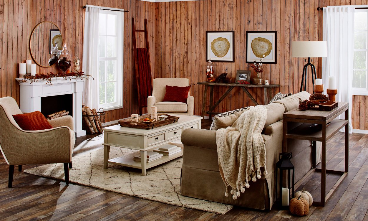 This Rustic Fall Living Room is What You Need this Year ... on Living Room Decorating Ideas  id=63082