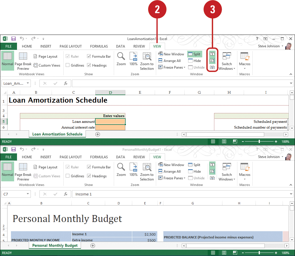 Microsoft Excel Arranging Windows Part 2