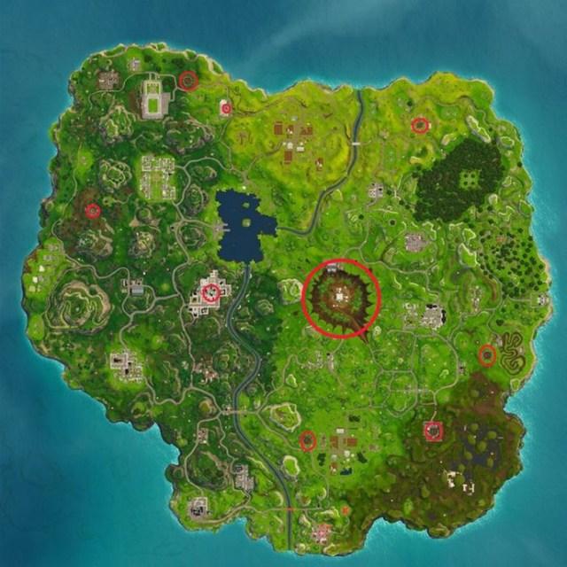 Fortnite - где найти кратеры