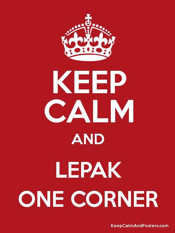 lepak-one-corner Singlish Slang