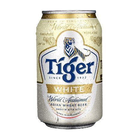 Tiger Beer Packaging White