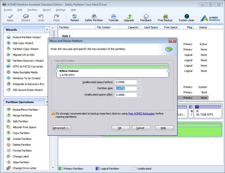 AOMEI Partition Assistant User Interface 2